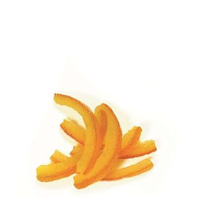 רצועות תפוז מיובשות מסוכרות