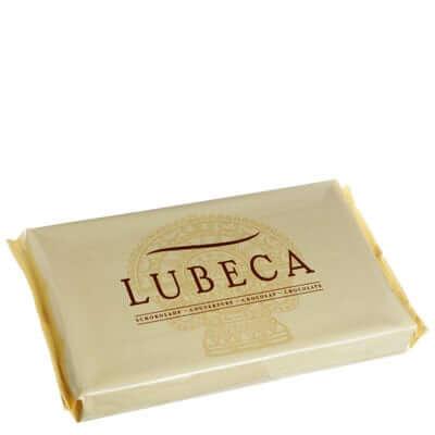 LUBECA בלוק שוקולד לבן אלמנדוס