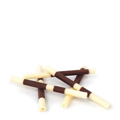 מקל שוקולד לקישוט משוקולד מריר ולבן- 600 גרם קישוטי עוגה אלמנדוס